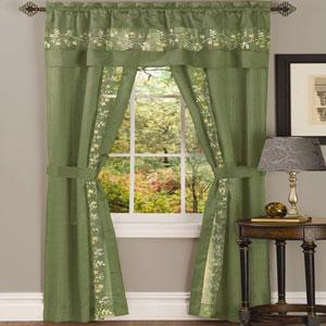 Fairfield Sage 84 x 55 In. Five-Piece Window Curtain Set