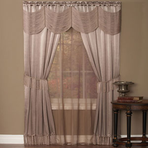 Halley Mauve 84 x 56 In. Six-Piece Window Curtain Set