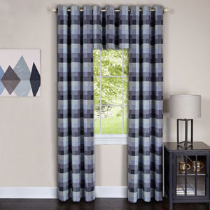 Harvard Blue 84 x 42 In. Window Curtain Panel