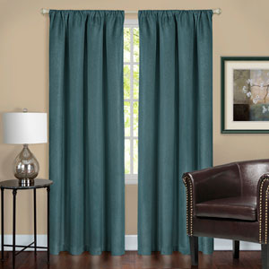 Harmony Teal 84 x 52 In. Blackout Window Curtain Panel