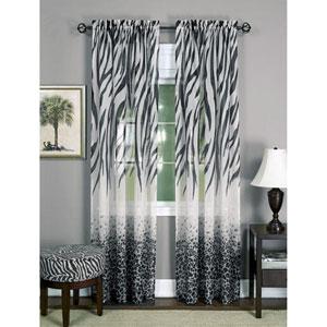 Kenya Black 84 x 50 In. Window Curtain Panel
