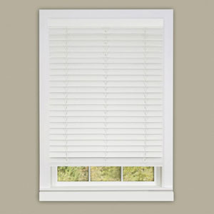 Cordless Madera Flasa White 64 x 23-Inch Blind