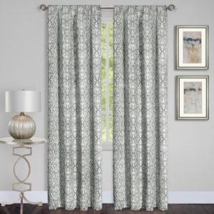 Madison Silver 63 x 54 In. Window Curtain Panel