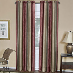 Ombre Burgundy 63 x 50 In. Window Curtain Panel