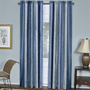 Ombre Blue 84 x 50 In. Window Curtain Panel