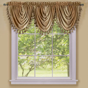 Ombre Sandstone Waterfall Valance