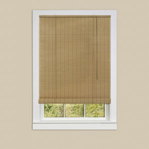 Eclipse Woodtone 72 x 48-Inch Roll-Up Blind