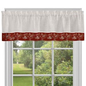 Oakwood Burgundy 58 x 14-Inch Window Valance