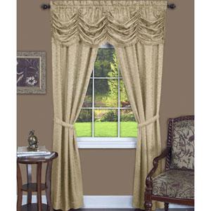 Panache Tan 63 x 55 In. Five-Piece Window Curtain Set