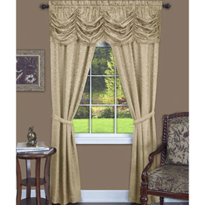 Panache Tan 84 x 55 In. Five-Piece Window Curtain Set