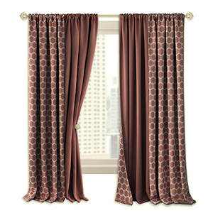 Prelude Marsala 63 x 50 In. Reversible Blackout Curtain Panel