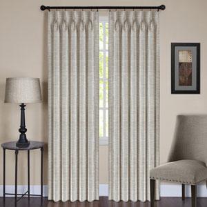 Parker Pinch Pleat Ivory 63 x 34 In. Window Curtain Panel