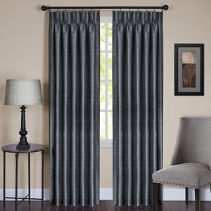Parker Pinch Pleated Slate 84 x 33 In. Window Curtain Panel
