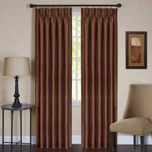 Parker Pinch Pleated Spice 84 x 33 In. Window Curtain Panel
