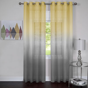 Rainbow Gray 84 x 52 In. Single Grommet Curtain Panel
