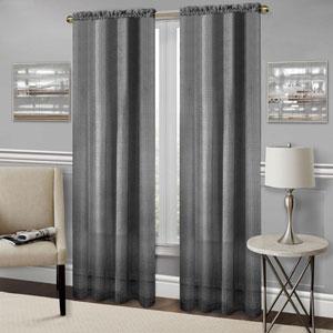 Richmond Black 84 x 52 In. Window Curtain Panel