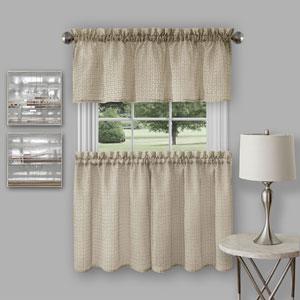 Richmond Tan Curtain Tier Pair and Valance Set