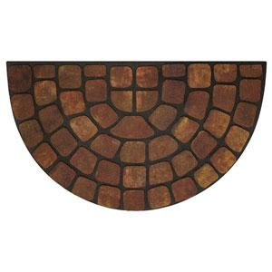 Beige Stone Slice 18 x 30-Inch Raised Rubber Mat
