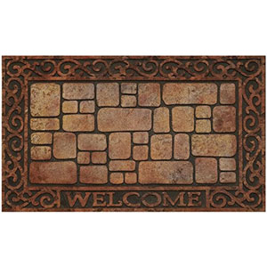 Paver Scroll 18 x 30-Inch Raised Rubber Mat