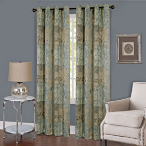 Vogue Blue 63 x 50 In. Window Curtain Panel
