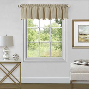 Wallace Linen 52 x 14 In. Window Valance