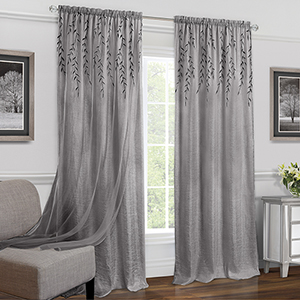 Willow Grey 84 x 42 In. Window Curtain Panel