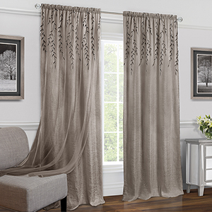 Willow Toffee 84 x 42 In. Window Curtain Panel