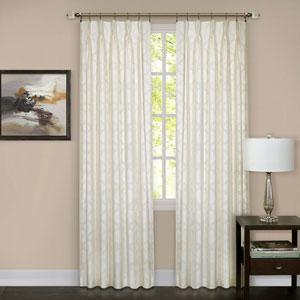 Windsor Ivory Pinch Pleat 63 x 34 In. Window Curtain Panel