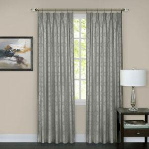 Windsor Silver Pinch Pleat 84 x 34 In. Window Curtain Panel