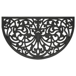 Mat Fleur De Lis Ironworks 18 x 30-Inch Wrought Iron Rubber mat
