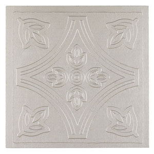 Metallo Silver 4 x 4 In. Adhesive Wall Tiles, Set of 24