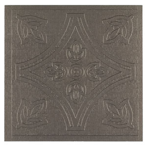 Metallo Pewter 4 x 4 In. Adhesive Wall Tiles, Set of 24