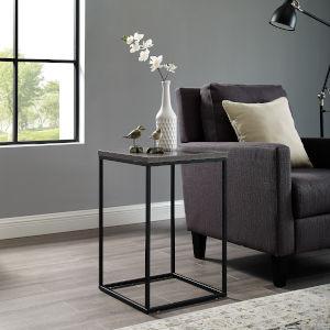 Dark Concrete Side Table
