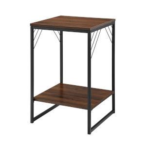 Troy Dark Walnut Side Table