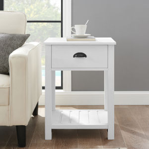 Brushed White Side Table