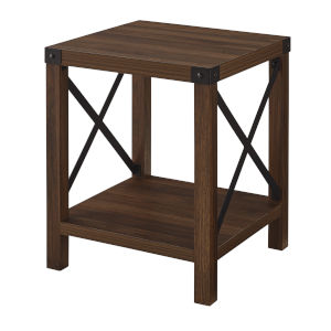Dark Walnut 18-Inch Wood Side Table