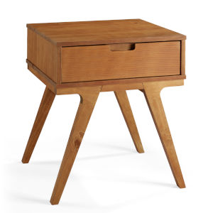 Mateo Caramel One Drawer Side Table