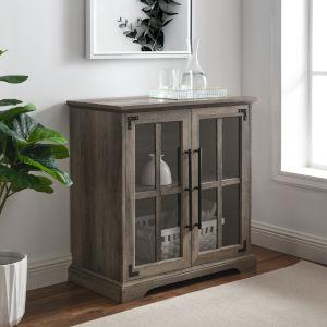 Abigail Gray Wash Two Door Cabinet