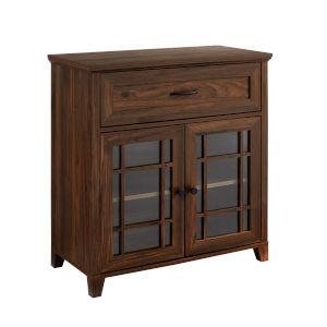 Hazel Dark Walnut Double Door Cabinet