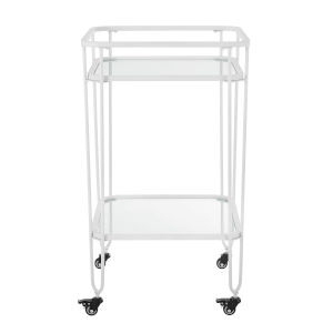 White Bar Serving Cart