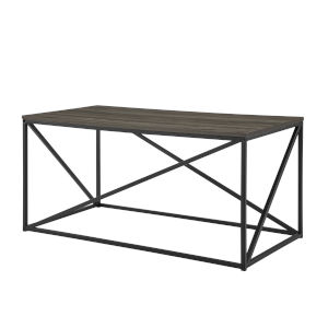 Slate Gray and Black Geometric Coffee Table