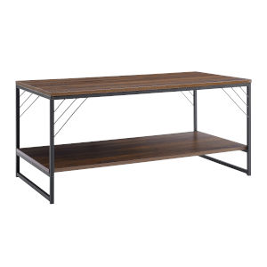 Troy Dark Walnut and Black Accent Coffee Table