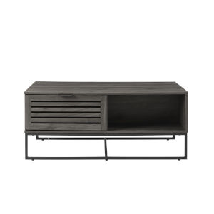Jackson Slate Gray and Black Slat Door Coffee Table