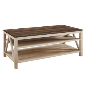 Dark Walnut and White Oak Coffee Table
