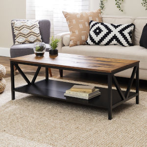 Natalee Barnwood and Black Coffee Table