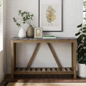 Dark Concrete Entryway Table