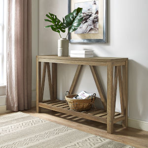 Rustic Oak Entryway Table