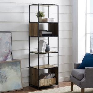 Brown Five Shelf Bookcase