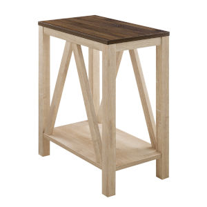 Dark Walnut and White Oak Side Table