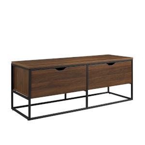 Arber Dark Walnut Storage Bench with Two Drawer